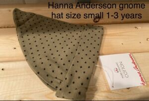Hanna Andersson Gnome Hat Organic Cotton Nwt Small 1-3 Years Stars