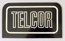 VINTAGE TELCOR TELEPHONE PAY PHONE SIGN BLACK/WHITE PLASTIC RARE