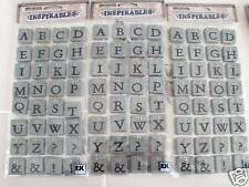 96 embossed Stone LETTERS SCRABBLE scrapbooking NEW