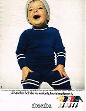 PUBLICITE ADVERTISING 014   1975   ABSORBA   vetements enfants