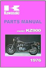 KAWASAKI Parts Manual KZ900 Z900 KZ900-A4 1976 Replacement Spares Catalog List