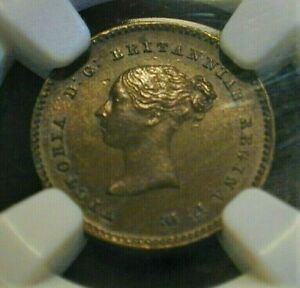1839 Great Britain for Ceylon 1/4 Farthing NGC MS 64 BN KM#737  (595)
