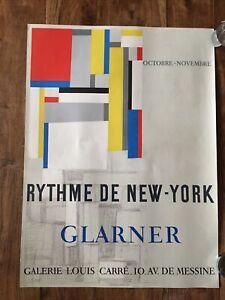 Fritz Glarner (1899-1972) « Case New York» Poster Lithographed Mourlot 1955