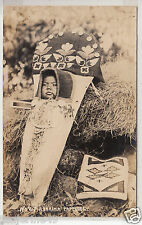 RPPC - Yakima Papoose in Decorative Cradleboard - early 1900s - Washington