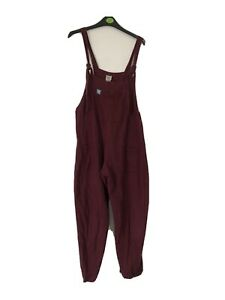 """Lucy & Yak Maroon 100% Cotton Dungareees Size M 30"""""""