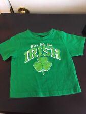 The Children's Place Green Kiss Me I'm Irish T-shirt Baby Infant Size 9-12M