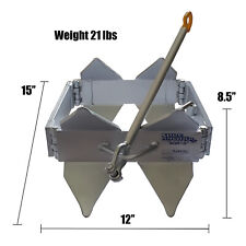 SLIDE/BOX ANCHOR 9.2kg (SML) - Manual Anchor  18-30' off shore and cabin boats