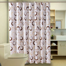 Waterproof Polyester Fabric Bathroom Shower Curtain Sheer Panel Decorations XS