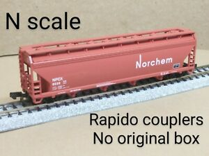 Norchem NPCX 4 bay ACF covered hopper car N scale Atlas red chemical refinery RR