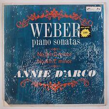 WEBER: Piano SonatasL'oiseau Lyre, SOL 271 D'Arco VINYL LP Shrink UK NM