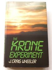 J. Craig Wheeler - The Krone Experiment  1986 HARDBACK UK 1ST EDITION BOOK