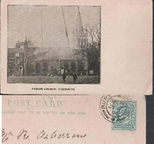 Great Yarmouth, Norfolk - Parish Church - early undivided back postcard 1904
