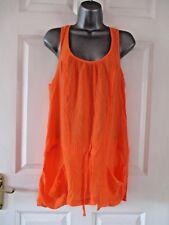 RIVER ISLAND Stunning Tangerine Orange Sleeveless Racerback Tunic Cami Top Sz 6