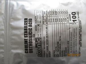 100 Grams Choline-Stabilized Orthosilicic Acid Powder (Organic Silicon) pure