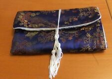 Embroidered Chinese Silk  Jewelry Pouch Bag