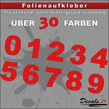 Z2- H: 4,40cm / Ziffern Zahlen Aufkleber 0-9 - Schild/Briefkasten/Nummern/Preis