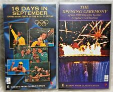 VHS Video Tapes x 2 SYDNEY 2000 Olympics Opening Ceremony & 16 Days in September