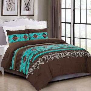 2 Piece Western Southwestern Native American Design Comforter Set Multicolor