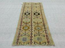 Vintage 2x4 ft Small Rug,Doormat,Hand Made Rug Wool Rug,Turkish rug,Oushak Rug,