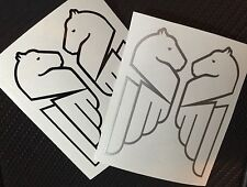 Buell Pegasus Outlines Decals. Black and silver. 2 Pair. Or choose your color.