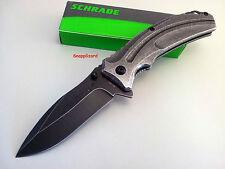 Schrade Linerlock Stonewash Folding Knife | SCH504