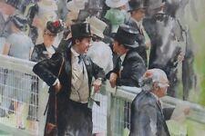 "NEW ORIGINAL FRASER KING ""Royal Ascot II"" Horse racing jockey racehorse PAINTING"