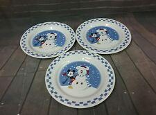 disney china mickey mouse snowman checkerboard plates
