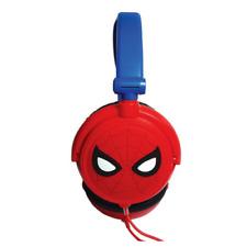 Lexibook Hombre Araña Plegable Estéreo Auriculares Con Limitador De Volumen-Azul-HP010SP