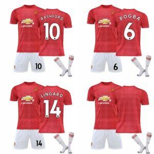 Manchester United Fußballtrikot Nr. 6 Pogba Training Fußballtrikot Sportset