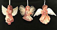 Heavens Little Angels Christmas Ornaments 3 Porcelain Bradford Editions 13 14 15
