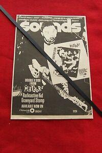 THE METEORS ORIGINAL 1981 ORIGINAL VINTAGE ADVERT RADIOACTIVE KID SINGLE