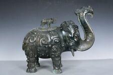 Chinese Beautiful Fine Bronze Elephant Zun