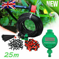 Automatic Timer + Watering Irrigation System Kit Garden Hose Greenhouse Plants