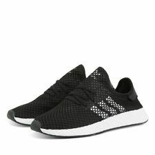 Scarpe ginnastica uomo adidas Deerupt Runner BD7890 Nero-Bianco mesh tela
