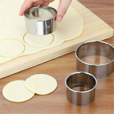 5 Set  Circle Pastry Biscuit Cookie Baking Stainless  DIY  Round Cutter  Steel