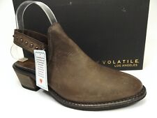 Very Volatile Women's Adamo Slingback Mule Heel Shoes Brown, SZ 8.0 M, D13749