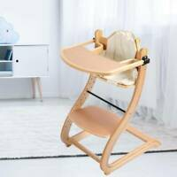 Portable Folding Curved Wooden Highchair Easy Store Baby Wood High Chair uk