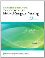Brunner And Suddarth's Textbook Of Medical Surgical Nursing - by Hinkle