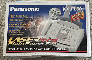 Panasonic KX-FL501 Fast Speed Laser Fax Machine With Copier Function & Manual