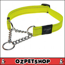 ROGZ Utility Medium 5/8-inch Reflective Snake Obedience Half-check Dog Collar D