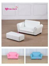 New Kids Toddler Sofa Lounge Couch Double Seat BLUE/PINK/WHITE