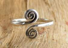 Solid 925 Sterling Silver Double Spiral Adjustable Silver Toe ring Toering