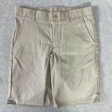 Nautica Boys Shorts Uniform Flat Front Adjustable Waist Khaki Nwot Size 12 Husky