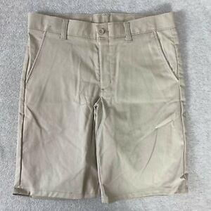 Nautica Boys Shorts Uniform Flat Front Adjustable Waist Khaki NWOT Size 8 Husky