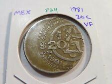 F24 Mexico 1981 20 Centavos VF Off-Center Error