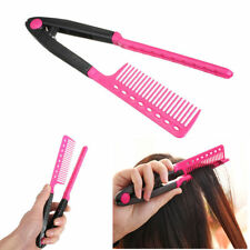 Hair Straightener V Comb Folding Styling Hairdressing Salon Straightening Brush