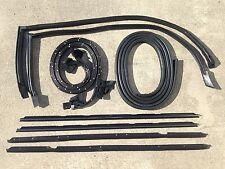 81-88 Monte Carlo SS 9pc Roof Rail, Window, Door Trunk Seal Weatherstripping Kit