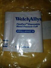 Welch Allyn Flexiport Disposable Blood Pressure Cuff [Small Adult 10] NIP