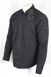 Harley Davidson Men's Zip-Front Stretch Shirt Jacket Slim Fit Black 99014-20vm