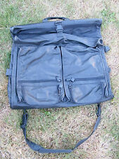 "Tumi Alpha Black Leather Folding Hanging Garment Bag Carry On Luggage 24"" x 40"""